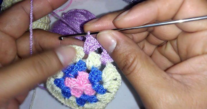Cuadro básico de colores a crochet paso a paso