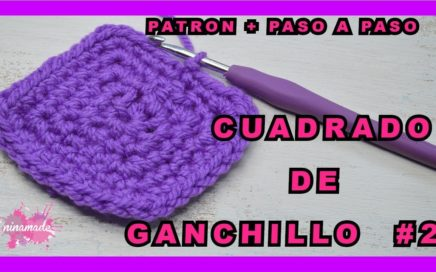 DIY. Cuadrado Ganchillo #2 Fácil.Paso a Paso// Crochet Granny Square Free Pattern