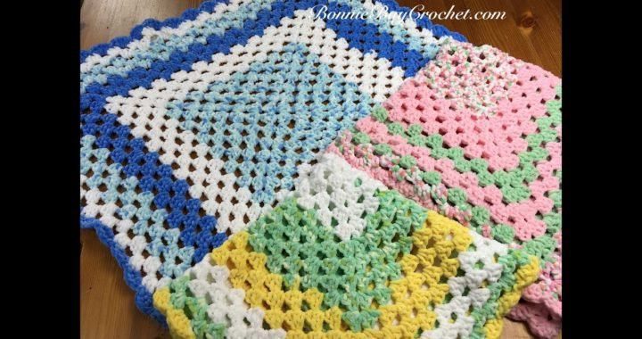 EASY BEGINNER'S Granny Square Baby Blanket, with Bonnie Barker