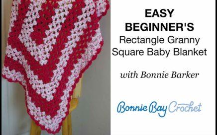 EASY BEGINNER'S Rectangle Granny Square Blanket, with Bonnie Barker
