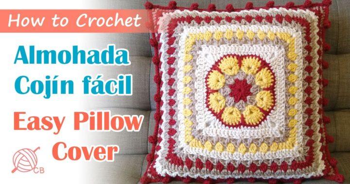 [Eng Sub] Afican Flower  Pillow - Crochet Cojín Almohada Fácil - Easy Cushion Cover Home 2020
