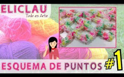 Esquema de puntos en crochet #1 | Scheme of points | EliClau