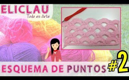 Esquema de puntos en crochet  #2 | Scheme of points | EliClau