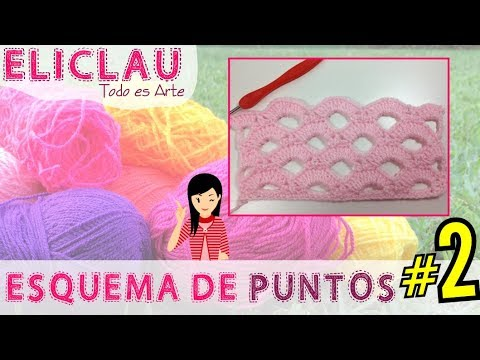 Esquema de puntos en crochet  #2 | Scheme of points | EliClau