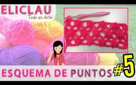 Esquema de puntos en crochet #5   Bodoque, Mota o Popcorn   Scheme of points   EliClau