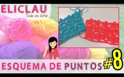 Esquema de puntos en crochet #8 + Decoración | Scheme of points | EliClau
