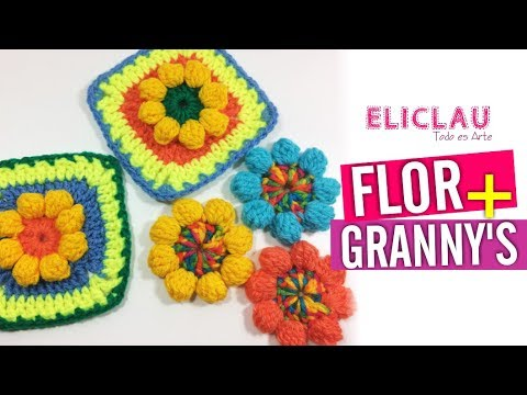 FLOR FÁCIL en CROCHET + Granny square a crochet | EliClau