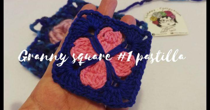 🌸 Flor Azulejo Granny square