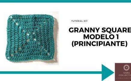 👉GRANNY SQUARE MODELO 1👈👉FÁCIL Y RÁPIDO👈👍Tutorial a crochet paso a paso en español principiante👍