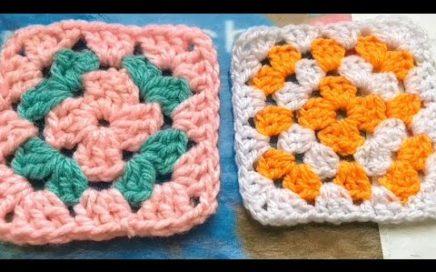 GRANNY SQUARE básico tejido a crochet