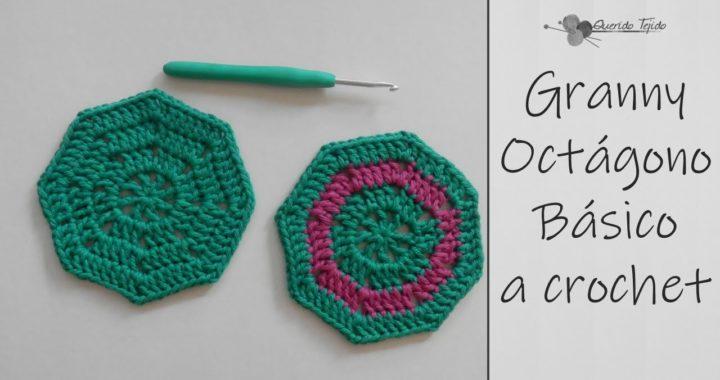 Granny Octagono Basico - Crochet Granny Octagon ENGLISH SUB
