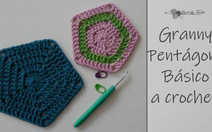 Granny Pentagono Basico - Crochet Granny Pentagon ENGLISH SUB