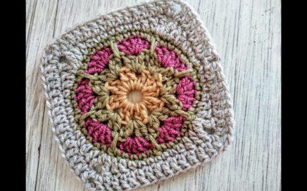 Granny Square, Aplicación a crochet, Cuadro de la Abuela ¡Paso a paso!