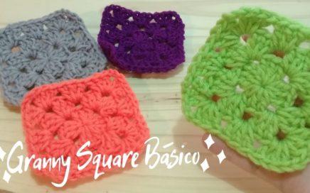 Granny Square Básico a Crochet - Paso a Paso