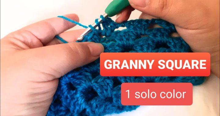 Granny Square Básico, de un solo color, Paso a paso