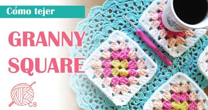 Granny Square Basico en Crochet - Granny Square Facil en  Ganchillo - How to Crochet Granny Square
