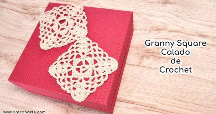 Granny Square Calado de Crochet - Ganchillo Paso a Paso