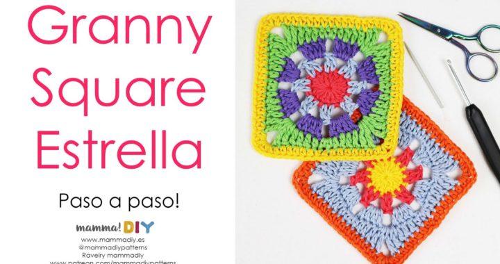 Granny Square Estrella Crochet por Cecilia Losada de Mamma Do It Yourself
