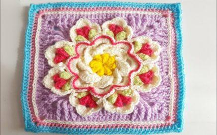 Granny Square a Crochet - Ganchillo - How To Crochet a Granny Square - parte #1