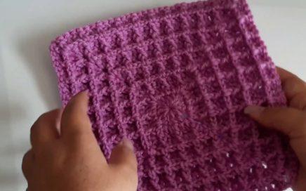 Granny Square a crochet - cuadro de ganchillo paso a paso