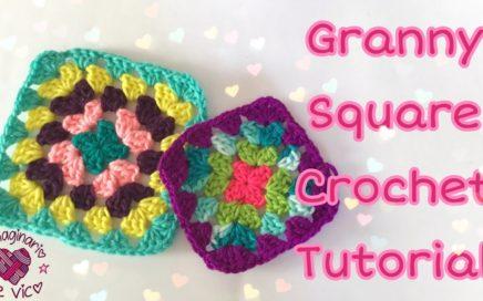 Granny Square crochet tutorial