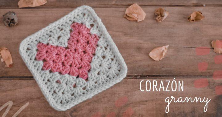 Granny Square de Corazón | paso a paso