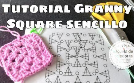 Granny Square sencillo crochet ideal principiantes