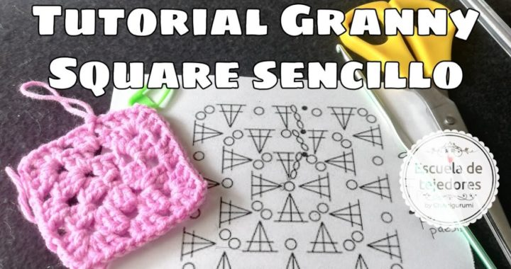 Granny Square sencillo crochet ideal principiantes
