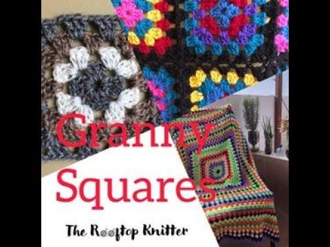 Granny Squares o Cuadros afganos o pastillas a crochet paso a paso