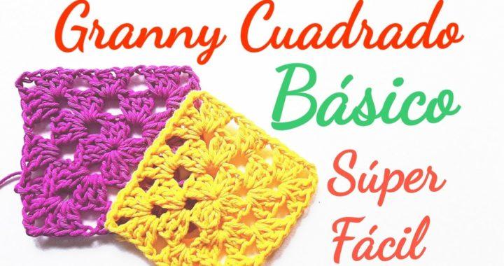 Granny cuadrado básico super fácil para principiantes