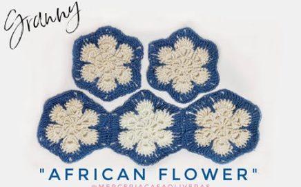 Granny square: African Flower ☼granny fácil de hacer y super bonito☼ Te enseño hacerlo paso a paso♥