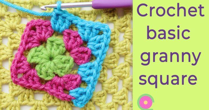 Granny square for beginners  [Crochet tutorial]