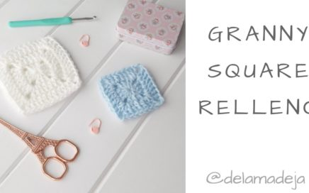 Granny square relleno en crochet por De La Madeja