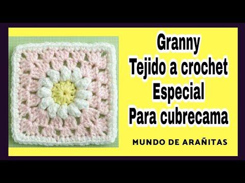 Granny tejido a crochet Especial para Cubrecamas Tutorial Fácil