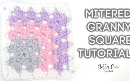 HOW TO CROCHET A MITERED GRANNY SQUARE    Bella Coco Crochet