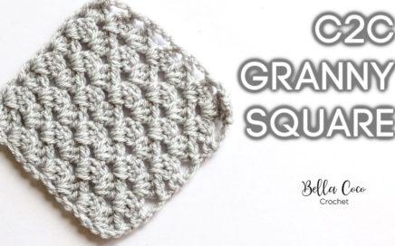 HOW TO CROCHET THE C2C GRANNY SQUARE   Bella Coco Crochet