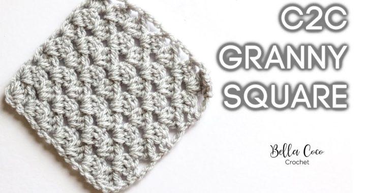 HOW TO CROCHET THE C2C GRANNY SQUARE | Bella Coco Crochet