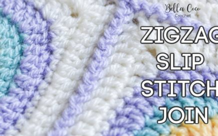 HOW TO CROCHET THE ZIGZAG SLIP STITCH JOIN | JOINING GRANNY SQUARES | Bella Coco Crochet