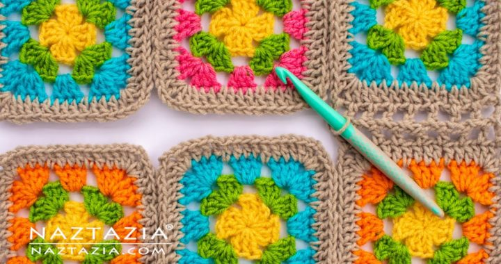 HOW to JOIN GRANNY SQUARES in CROCHET - 5 Different Ways of Connecting by Naztazia