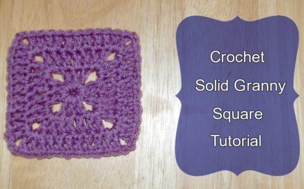 How to Crochet Solid Granny Square Tutorial - Crochet Jewel