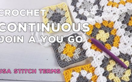 How to Crochet the Continuous Join As You Go (CJAYG) Method | Granny Square Joining | How to Join