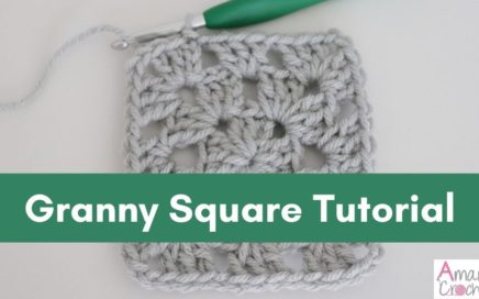 How to Make the Granny Square (Crochet 101 Tutorial)-Easy for Beginners