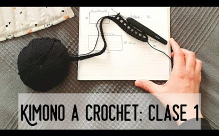 Kimono a Crochet. Nuevo Reto Crochetil! CLASE 1 #crochetycalma CÓMO TEJER UN ABRIGO O CARDIGAN.
