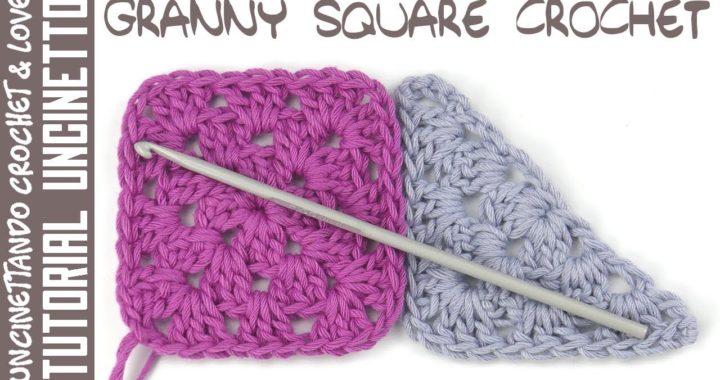 Mattonella Granny Square Classica - Tutorial Uncinetto (sub. Eng. y Esp.)
