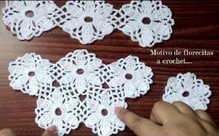Motivo de florecitas a crochet para blusas,chalecos o chales
