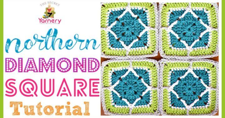 Northern Diamond Square Crochet Granny Square Tutorial - designed by Torun Johansson