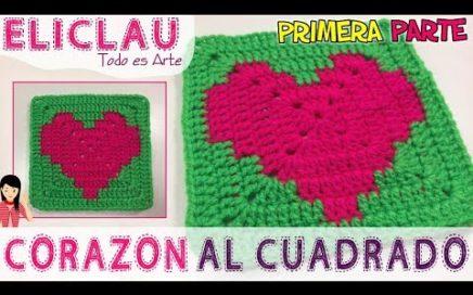 OSITO fácil en CROCHET    PARTE 1   Heart squared   EliClau