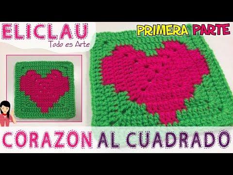 OSITO fácil en CROCHET  | PARTE 1 | Heart squared | EliClau
