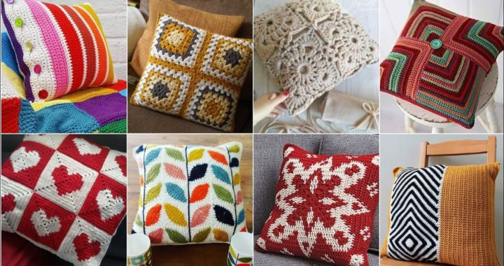 Outstanding crochet knitting granny square pattern and designs of cushions