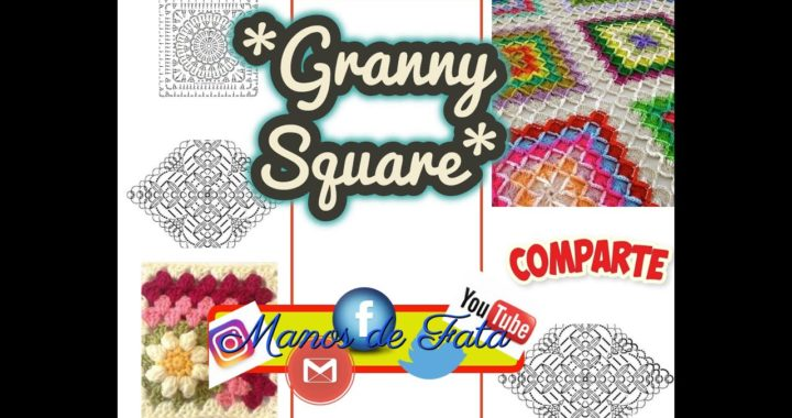 PATTERN - Granny Square / Patrones de Quadrillas